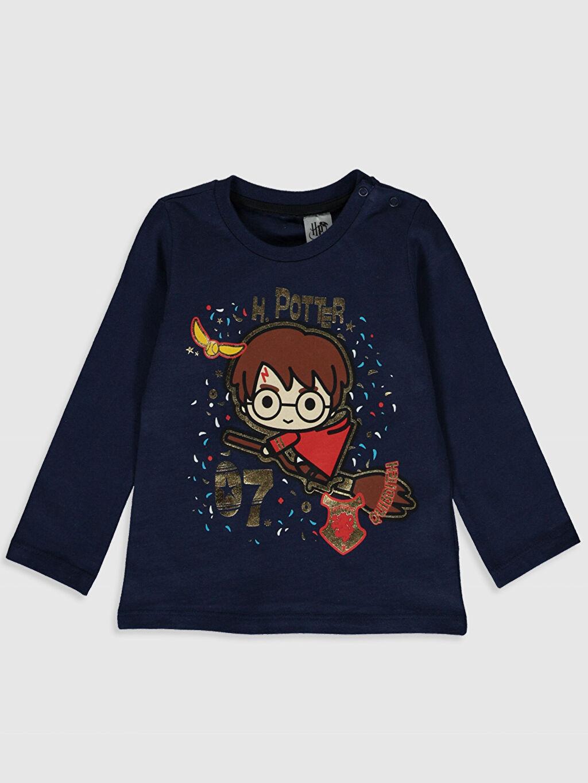 Lacivert Erkek Bebek Harry Potter Baskılı Tişört 9WY381Z1 LC Waikiki