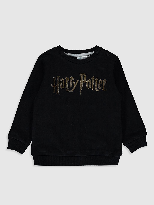 Siyah Erkek Bebek Harry Potter Baskılı Sweatshirt 9WY382Z1 LC Waikiki