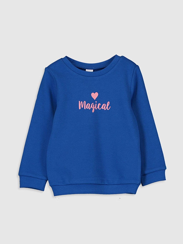 Mavi Kız Bebek Baskılı Sweatshirt 9WY397Z1 LC Waikiki