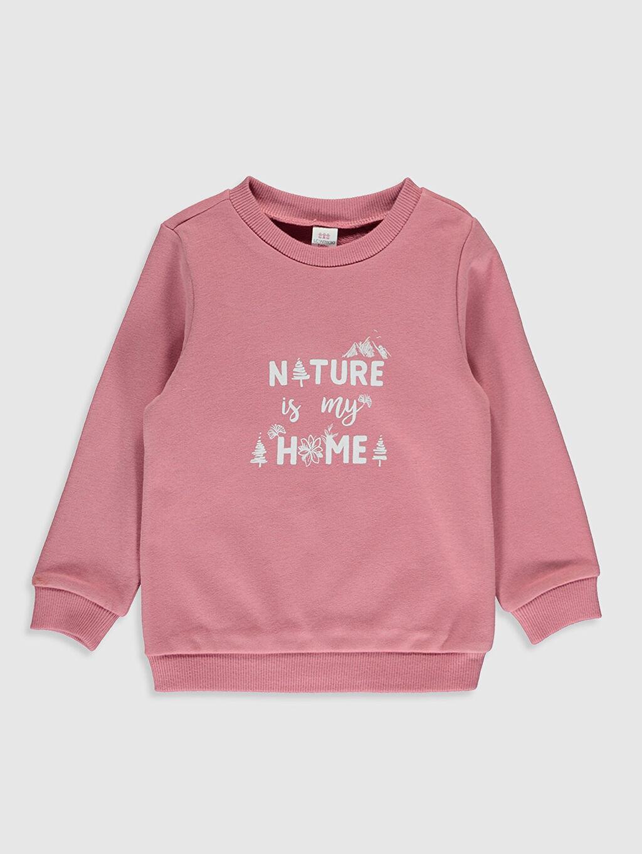 Pembe Kız Bebek Baskılı Sweatshirt 9WY397Z1 LC Waikiki