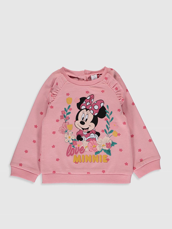 Kız Bebek Kız Bebek Minnie Mouse Sweatshirt ve Pantolon