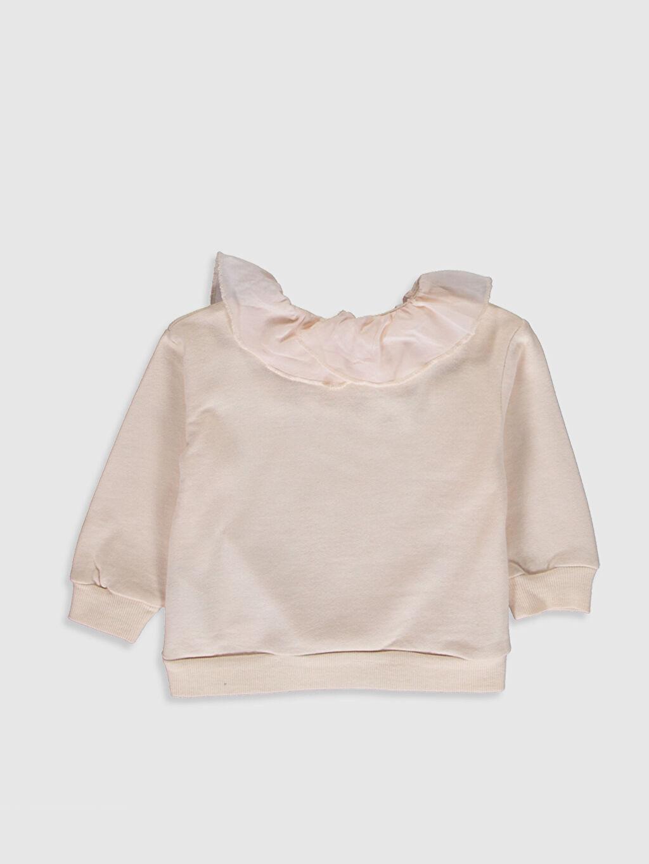 %100 Pamuk  Kız Bebek Fırfırlı Kalın Sweatshirt
