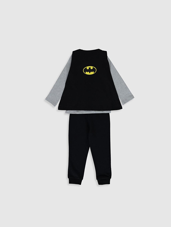 %67 Pamuk %33 Polyester  Erkek Bebek Batman Baskılı Takım 4'lü
