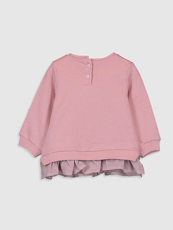 %100 Pamuk  Kız Bebek Baskılı Sweatshirt