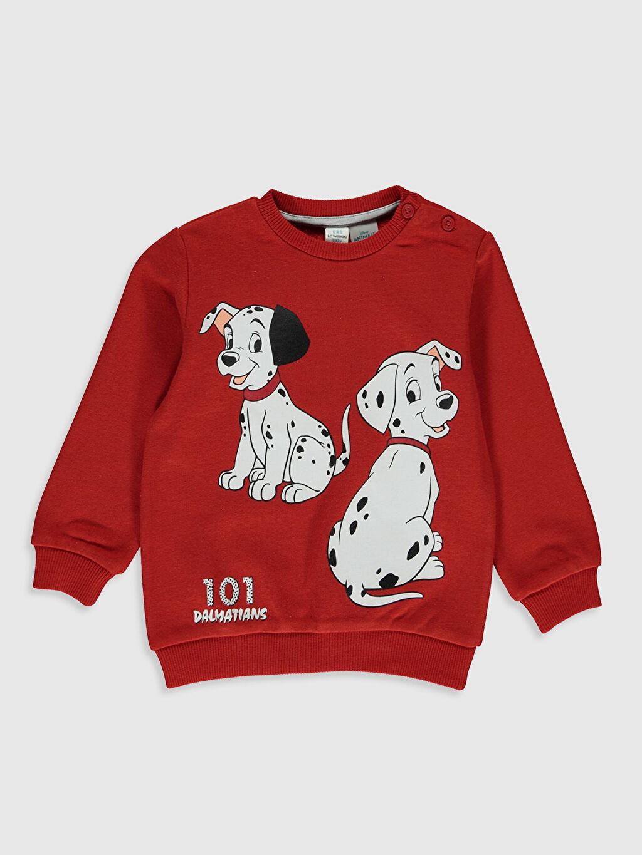 Kırmızı Erkek Bebek 101 Dalmaçyalı Baskılı Sweatshirt 9WY780Z1 LC Waikiki