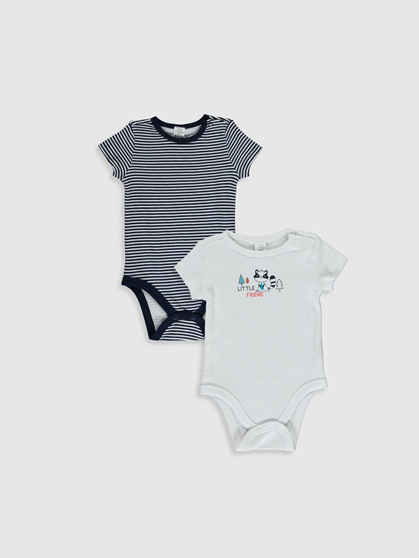 Beyaz Erkek Bebek Pamuklu Çıtçıtlı Body 2'li 9WY986Z1 LC Waikiki