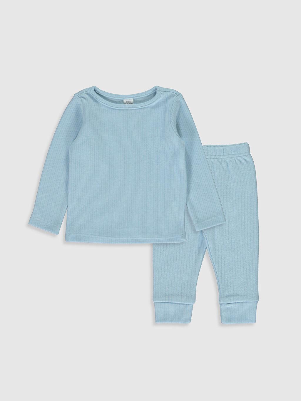 Mavi Erkek Bebek Pijama Takımı 9WA151Z1 LC Waikiki