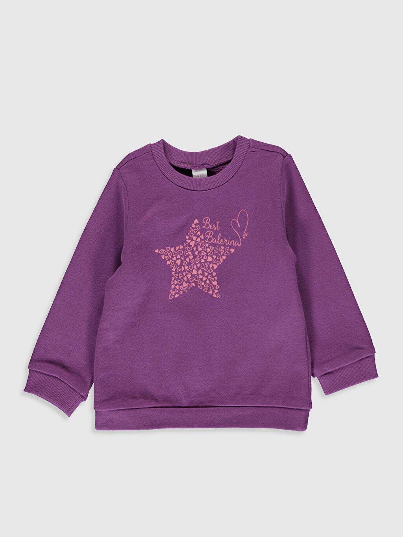 Kız Bebek Kız Bebek Baskılı Sweatshirt ve Pantolon