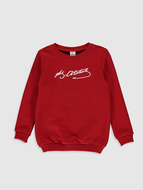 Kırmızı Kız Bebek Atatürk İmza Baskılı Tişört 9WA375Z1 LC Waikiki