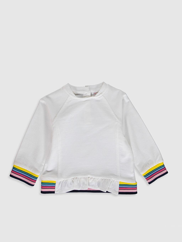 Ekru Kız Bebek Sweatshirt 9WA752Z1 LC Waikiki