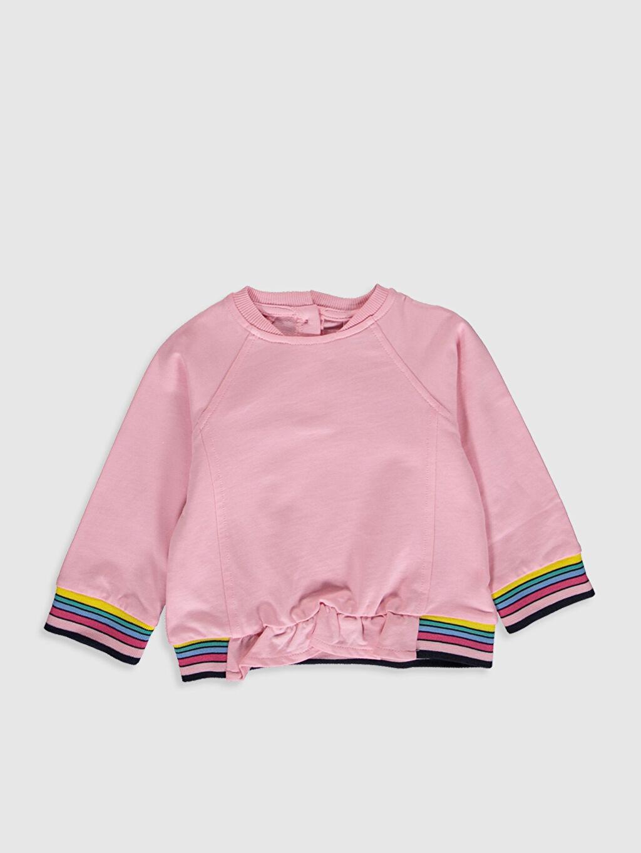 Pembe Kız Bebek Sweatshirt 9WA752Z1 LC Waikiki