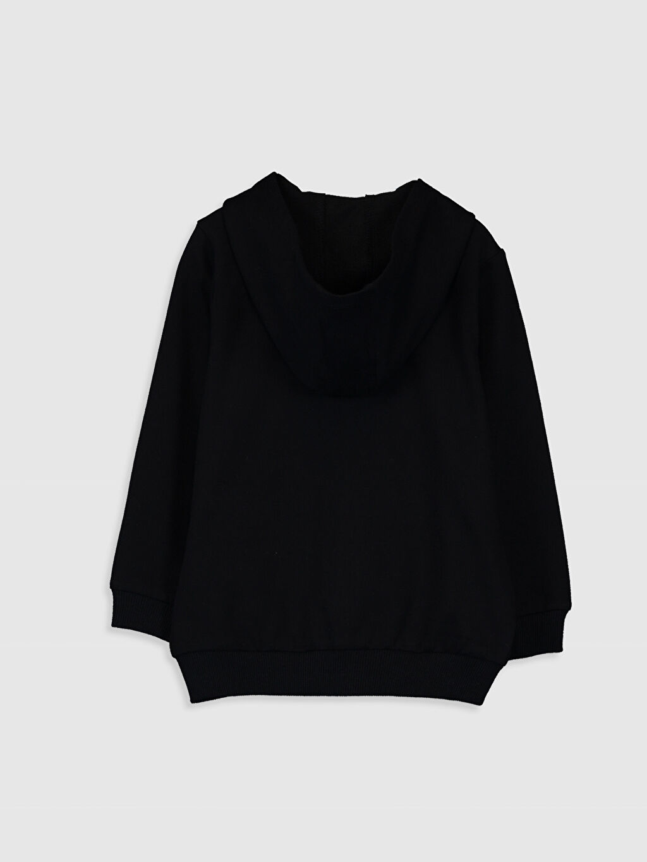 %82 Pamuk %18 Polyester  Erkek Bebek Kapüşonlu Fermuarlı Sweatshirt