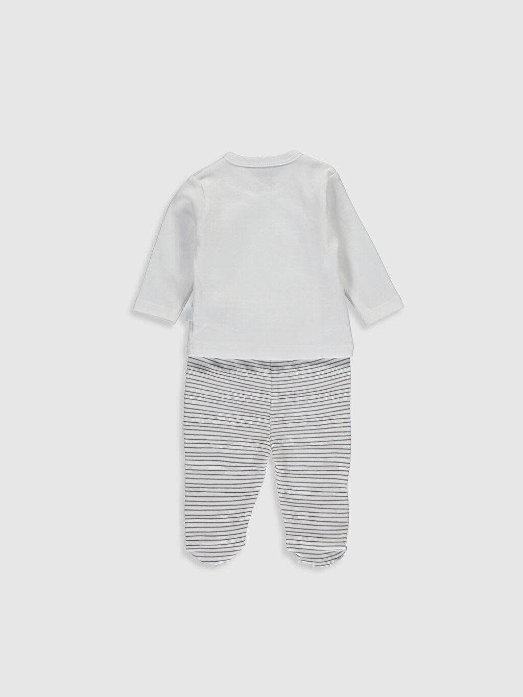 Erkek Bebek Bi Mini Yenidoğan Desenli Takım 5'li