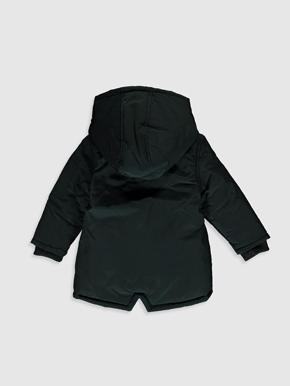 %100 Polyester %100 Polyester Kalın Kaban Erkek Bebek Kapüşonlu Fermuarlı Kaban
