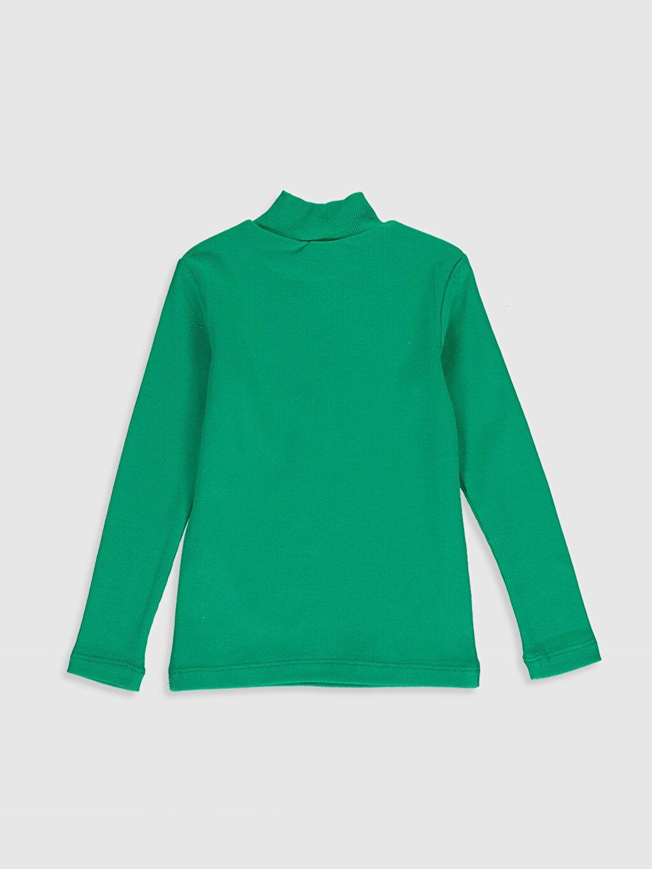 %97 Pamuk %3 Elastan Düz Normal Uzun Kol Tişört Balıkçı Yaka Erkek Bebek Pamuklu Basic Tişört