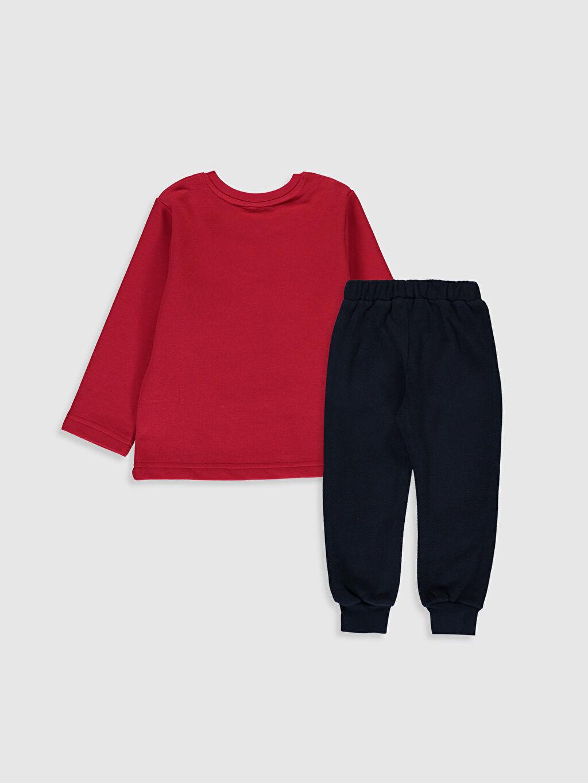 %100 Pamuk %100 Polyester  Erkek Bebek Mickey Mouse Baskılı Tişört ve Pantolon