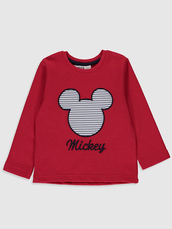 Erkek Bebek Erkek Bebek Mickey Mouse Baskılı Tişört ve Pantolon