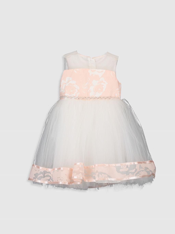Pembe Daisy Girl Kız Bebek Desenli Abiye Elbise 9WB703Z4 LC Waikiki