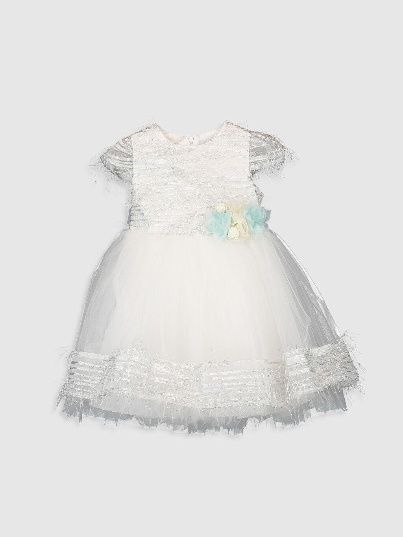 Yeşil Daisy Girl Kız Bebek Abiye Elbise 9WB760Z1 LC Waikiki