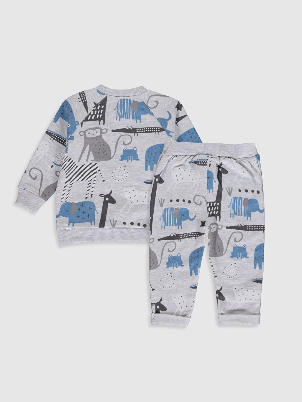 Luggi Baby Yenidoğan Desenli Sweatshirt ve Pantolon