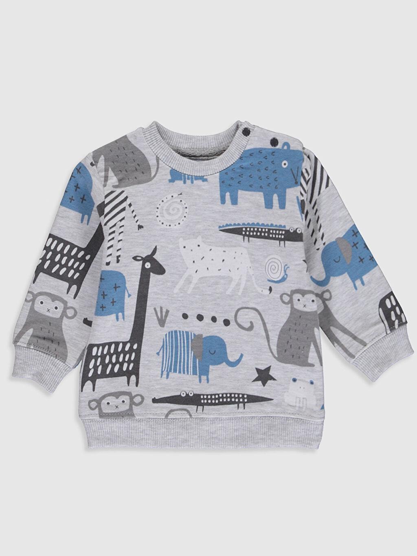 Erkek Bebek Luggi Baby Yenidoğan Desenli Sweatshirt ve Pantolon