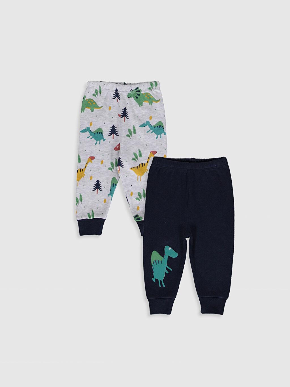 Turuncu Luggi Baby Yenidoğan  Desenli Jogger Pantolon 2'li 9WB859Z1 LC Waikiki