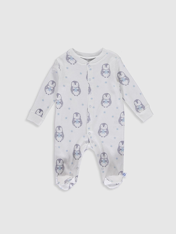 Beyaz Luggi Baby Desenli Patikli Tulum 9WB872Z1 LC Waikiki