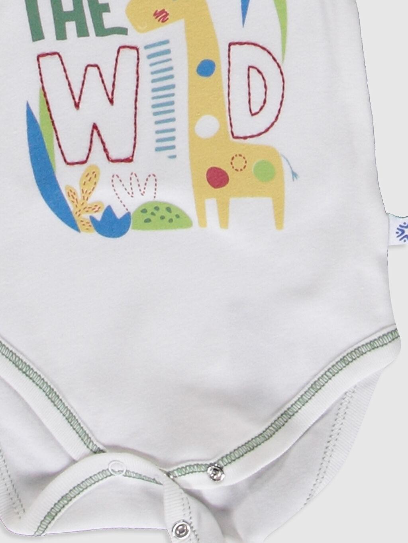 Erkek Bebek Luggi Baby Yenidoğan Desenli Çıtçıtlı Body