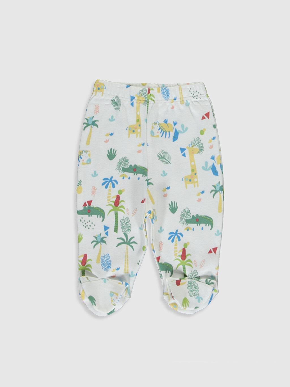 Luggi Baby Yenidoğan Desenli Tişört ve Patikli Pantolon
