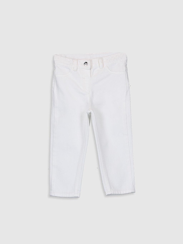 Ekru Kız Bebek Gabardin Pantolon 9WC089Z1 LC Waikiki