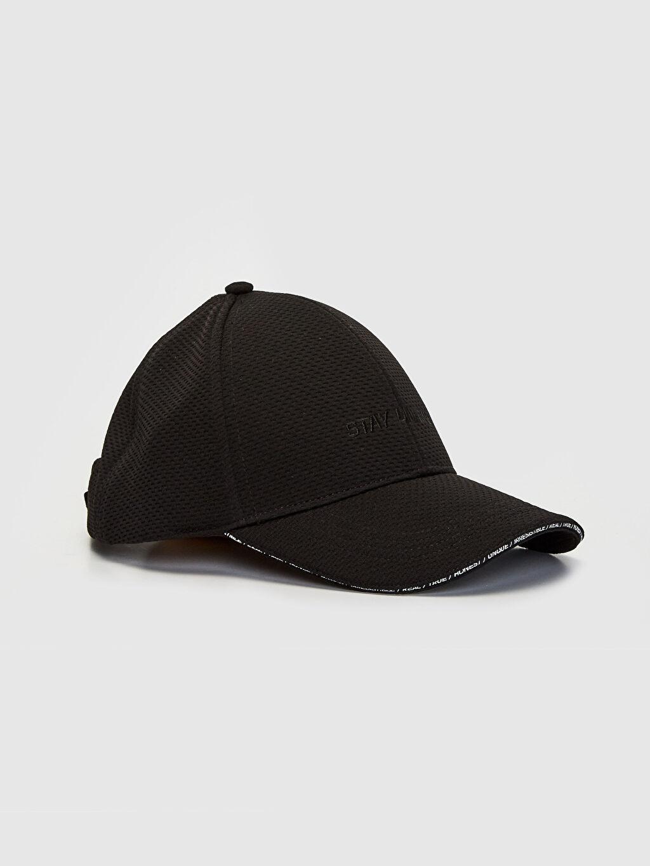 Siyah Yazı Nakışlı Şapka 0S0105Z8 LC Waikiki