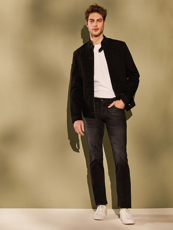 Erkek Standart Kalıp Basic Jean Ceket