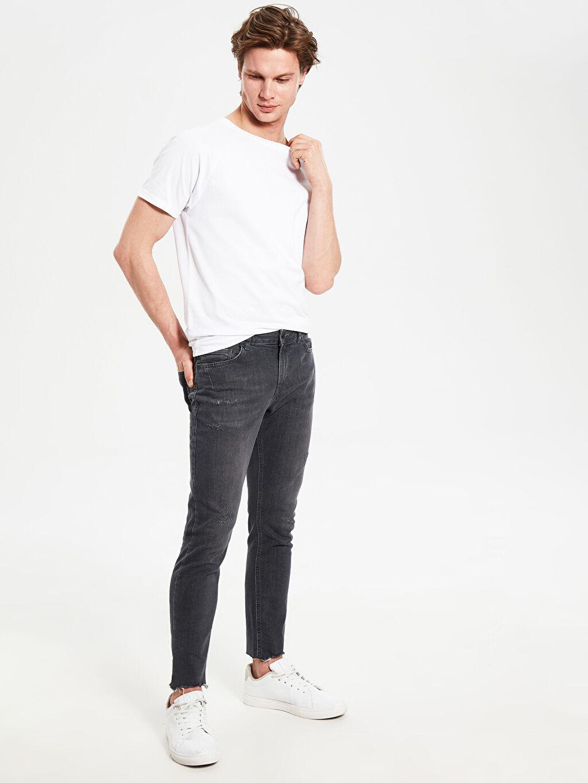 %84 Pamuk %14 Polyester %2 Elastan Normal Bel Extra Dar Jean 760 Skinny Fit Jean Pantolon