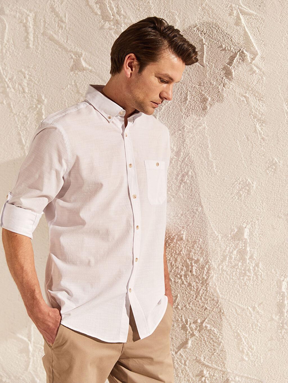 Erkek Regular Fit Kırçıllı Gömlek
