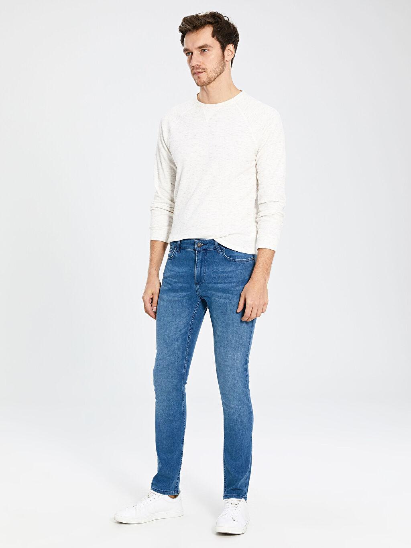 %99 Pamuk %1 Elastan Normal Bel Extra Dar Jean 770 Super Skinny Fit Jean Pantolon