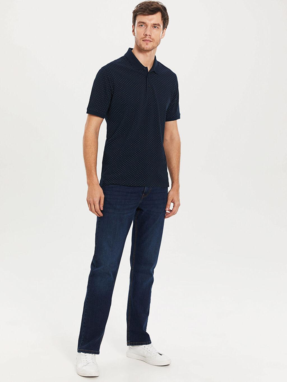 %100 Pamuk Polo Yaka Puantiyeli Tişört