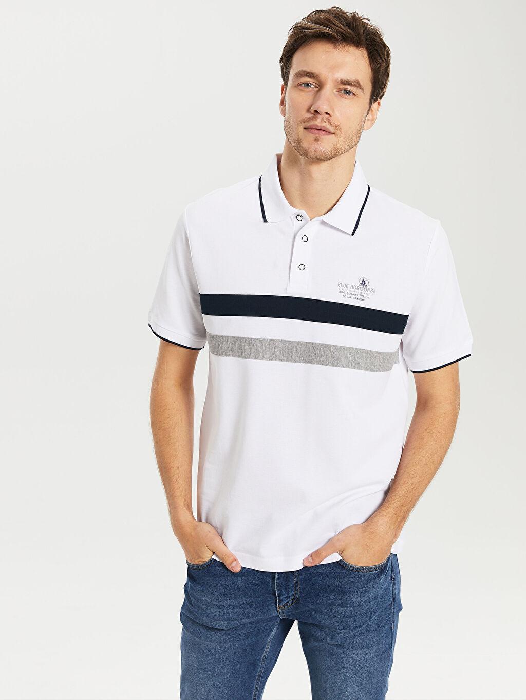 Erkek Çizgili Kısa Kollu Polo Tişört