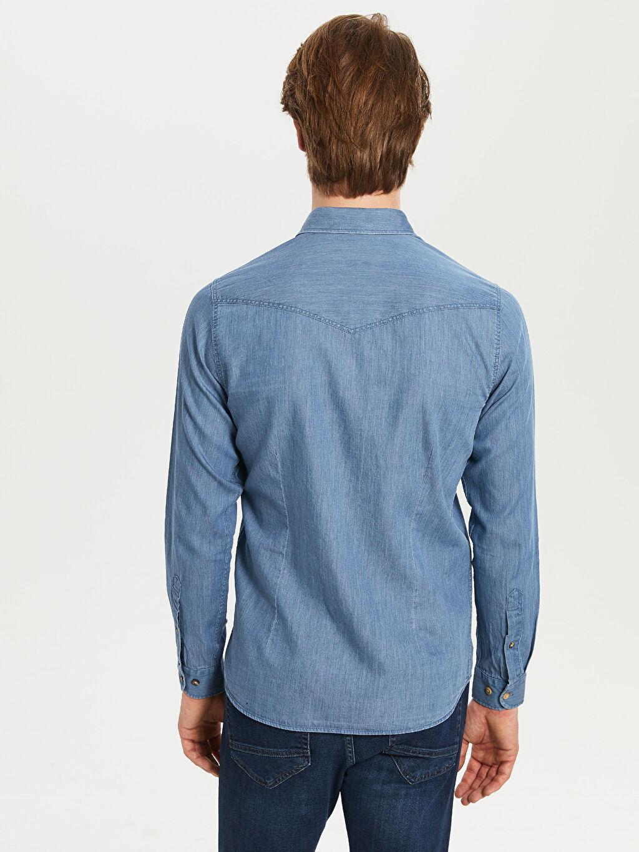 %100 Pamuk Düz Uzun Kollu Gömlek
