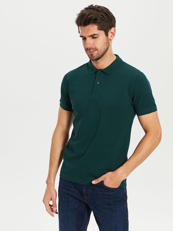 %100 Pamuk Standart Düz Kısa Kol Tişört Polo Düz Kısa Kollu Polo Tişört