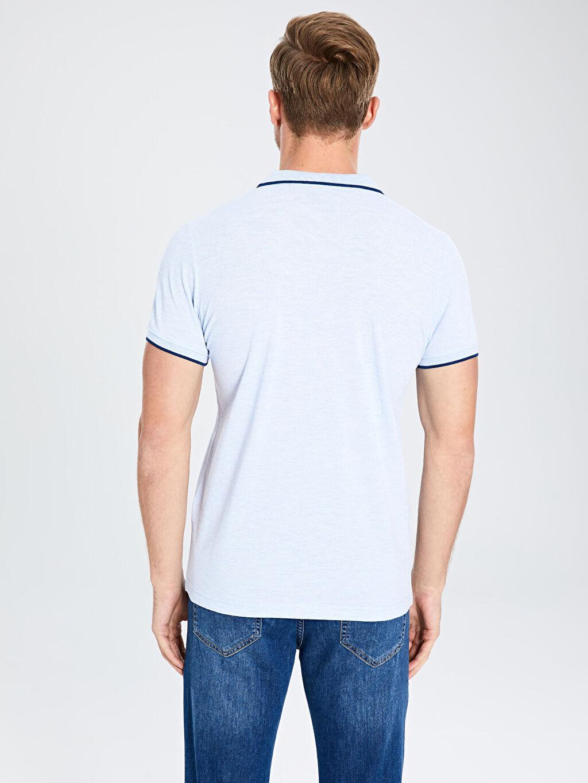 %63 Pamuk %37 Polyester Polo Yaka Basic Tişört