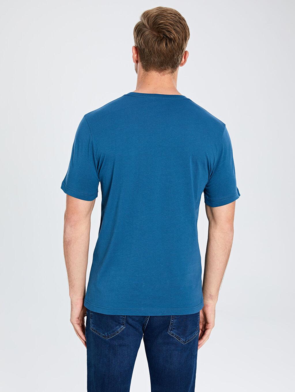 %100 Pamuk Bisiklet Yaka Basic Penye Tişört