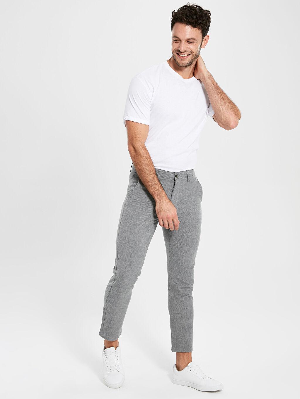 Gri Slim Fit Chino Pantolon 0S1919Z8 LC Waikiki