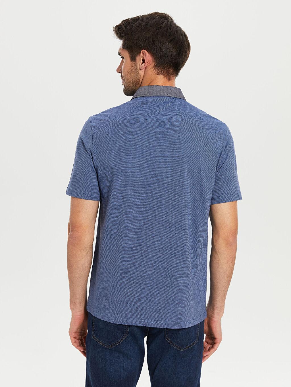 %100 Pamuk Polo Yaka Penye Tişört