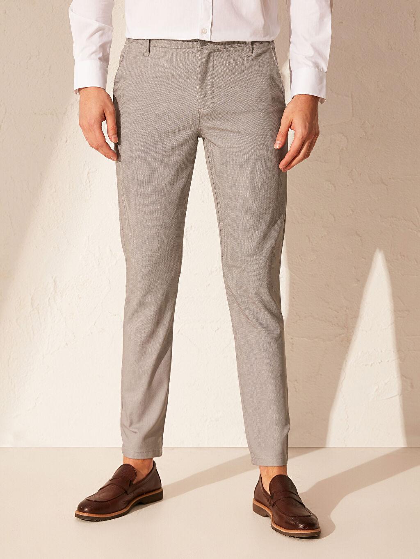 Erkek Slim Fit Chino Pantolon