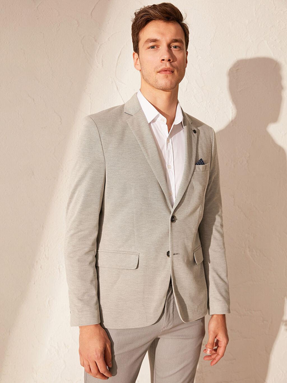 %100 Polyester  Dar Kalıp Blazer Ceket