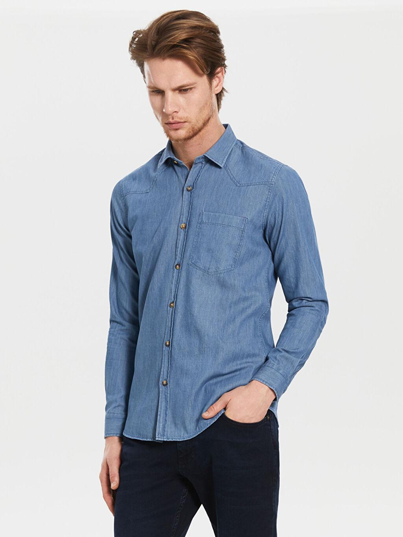 Mavi Ekstra Slim Fit Gabardin Gömlek 0S2492Z8 LC Waikiki