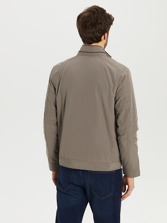 %40 Pamuk %60 Polyester Dik Yaka İnce Basic Mont