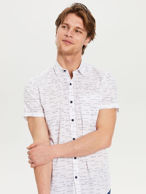 Erkek Desenli Kısa Kollu Gömlek