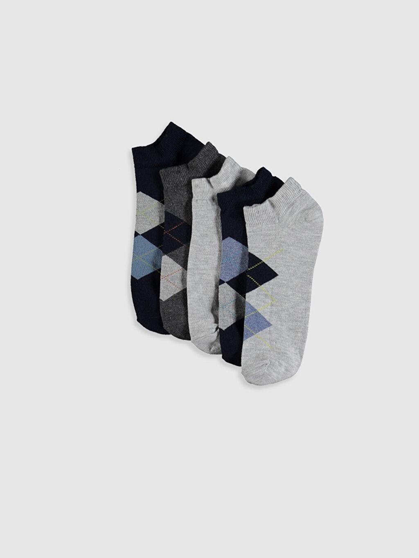Çok Renkli Desenli Patik Çorap 5'li 0S2755Z8 LC Waikiki
