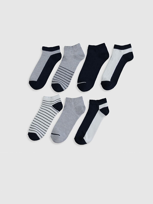 %52 Pamuk %27 Polyester %19 Poliamid %2 Elastan  Desenli Patik Çorap 7'li